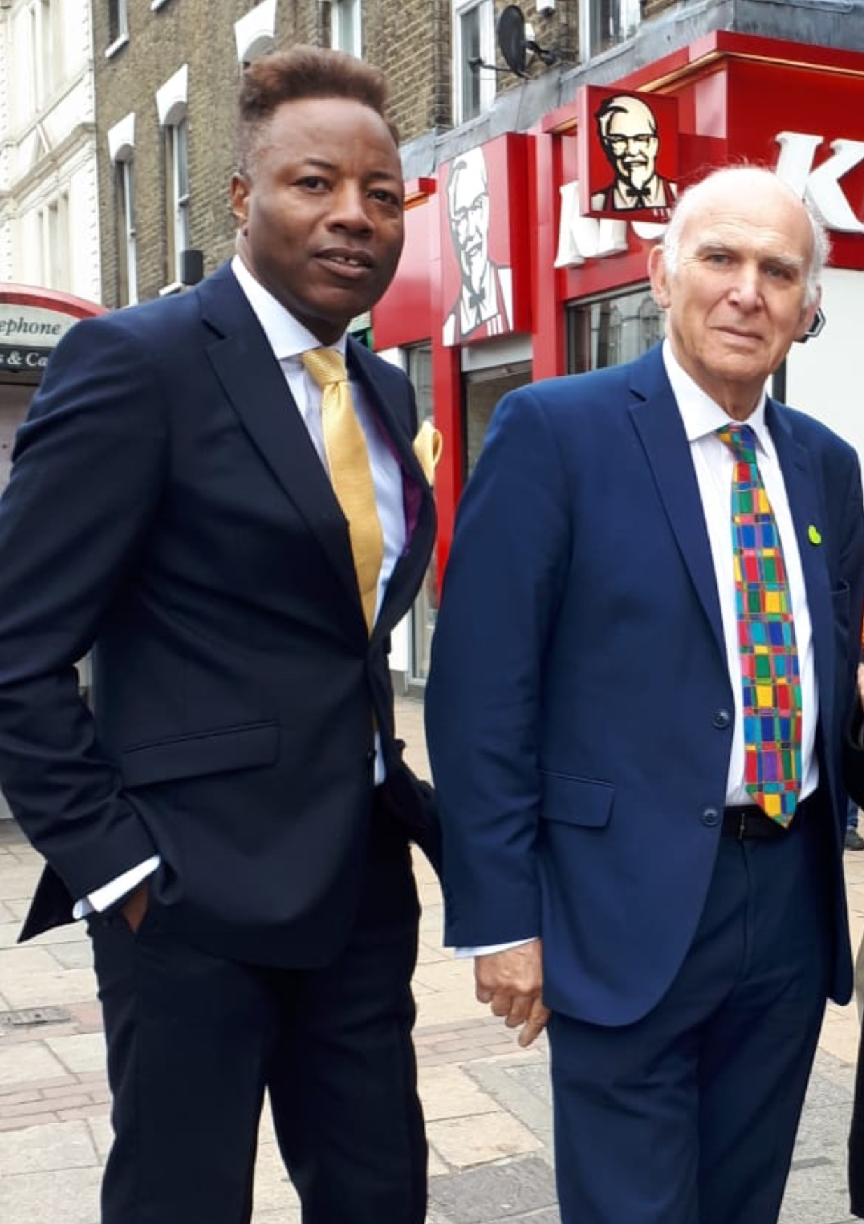 Roderick Lynch with Vince Cable