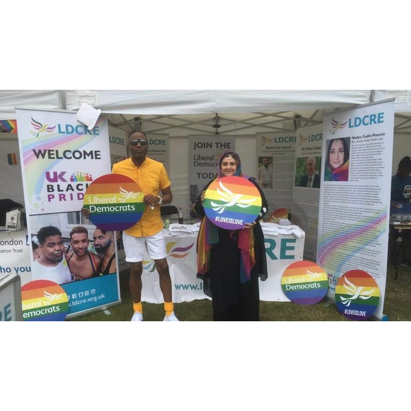 Roderick Lynch and Nadya Fadi Phoenix at UK Black Pride