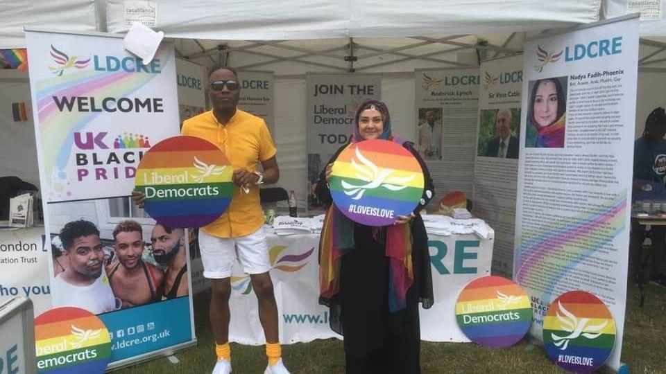 Roderick Lynch and Nadya Fadi Phoenix at UK Black Pride